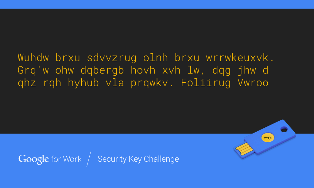 Google Security Key Challenge #3